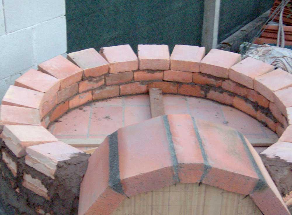 Hornos construidos Construir una pileta de ladrillos